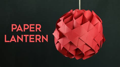 How To Make Lantern At Home With Paper - diy hanging paper lantern how to make paper lantern at