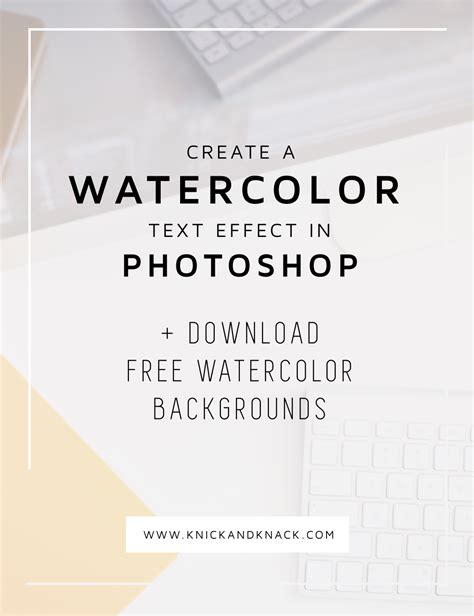 photoshop tutorial watercolor text watercolor text effect in photoshop the blog stop