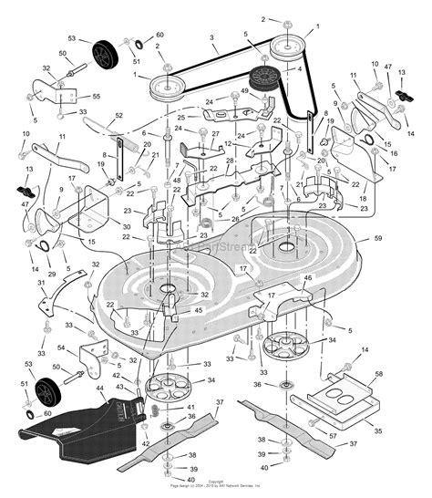 murray parts diagram murray 425003x8a lawn tractor 2000 parts diagram for