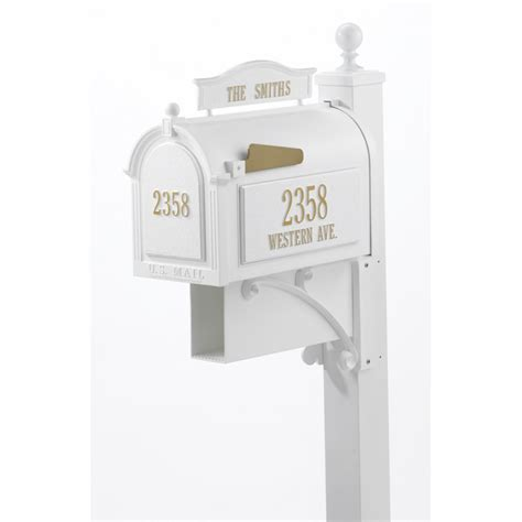 Whitehall Ultimate Mailbox Package With Address Plaques