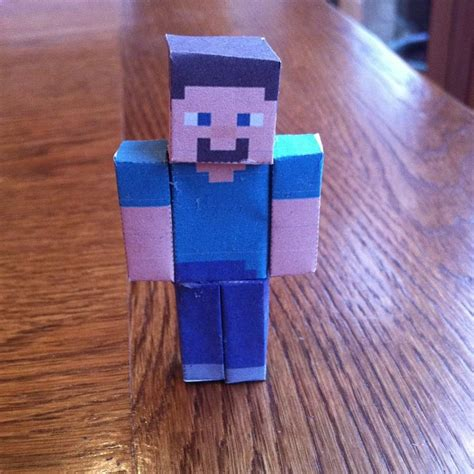 How To Make A Paper Steve - minecraft papercraft steve by blueovers on deviantart