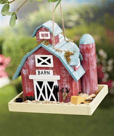 Barn Bird Feeder Fishing Lodge Station Barn Themed Detailed Wooden
