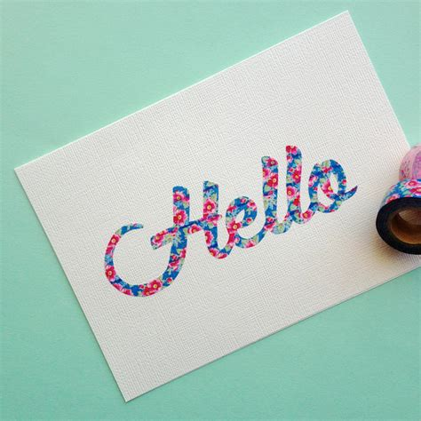Washi Tape Diy | omiyage blogs diy washi tape script cards