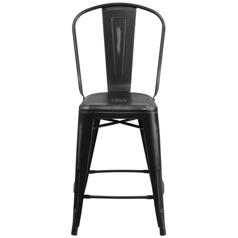 Black Metal Counter Height Stools by Distressed Black Metal Counter Height Stool With Vertical