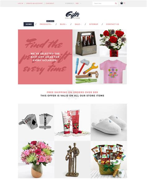 shopify themes gifts 30 free and premium shopify themes for various purposes