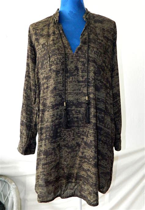 Hm Longblouse h m tunika longbluse minikleid mit batikprint