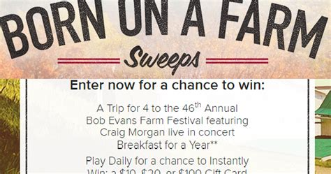 Bob Evans Gift Card Promotion - coupons and freebies bob evans gift card instant win giveaway 2 146 winners win