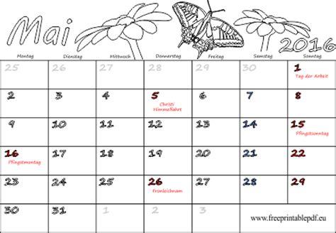 Kalender 2016 Mai Mai 2016 Drucken Pdf Drucken Kostenlos