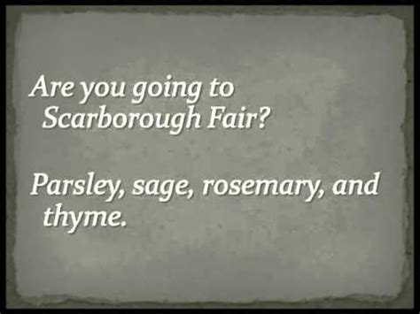 testo scarborough fair scarborough fair canticle simon garfunkel