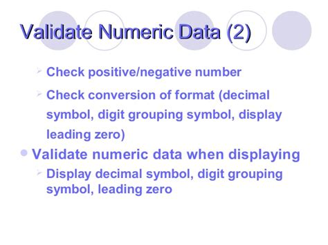 format date leading zero validation for different kind of data