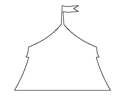 circus tent pattern use the printable outline for crafts