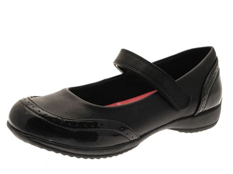 black school shoes slip on faux