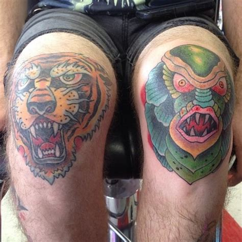 animal knee tattoo 19 knee tattoo designs images and pictures