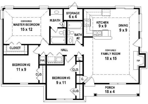 2 Bedroom Open Floor Plans Home Designs 2 Bedroom House Plans Open Floor Plan Beautiful House Plans Efficient House