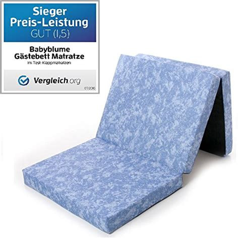 matratze 3 teilig klappbar g 228 stebett matratze klappmatratze marmor 189x79x10 cm