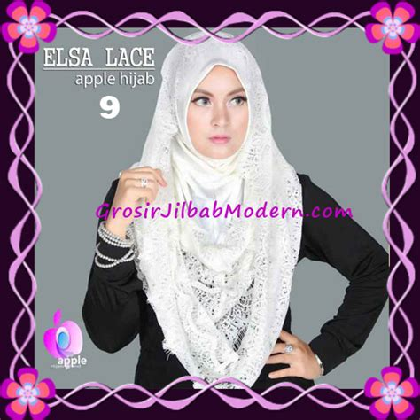 Jilbab Instan Elsa jilbab instant terbaru elsa lace hoodie premium by apple brand no 9 broken white grosir