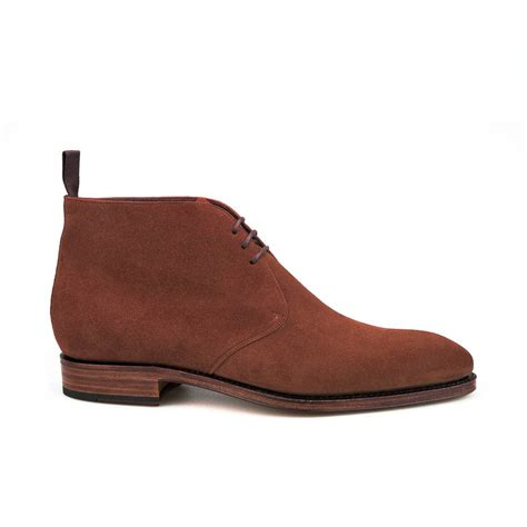 Suede Flat Shoes Polos chukka boots in polo suede carmina