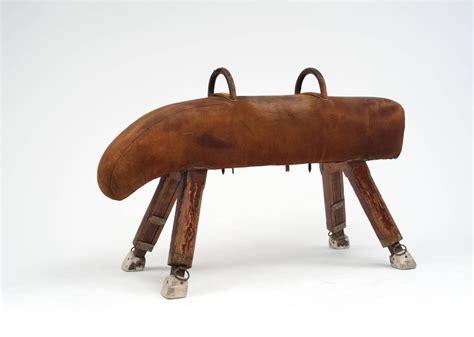 bench horse antique leather pommel horse vintage gym bench for sale at