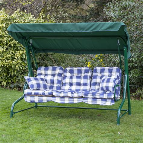swing for your seats garden 3 seater replacement swing seat hammock cushion set