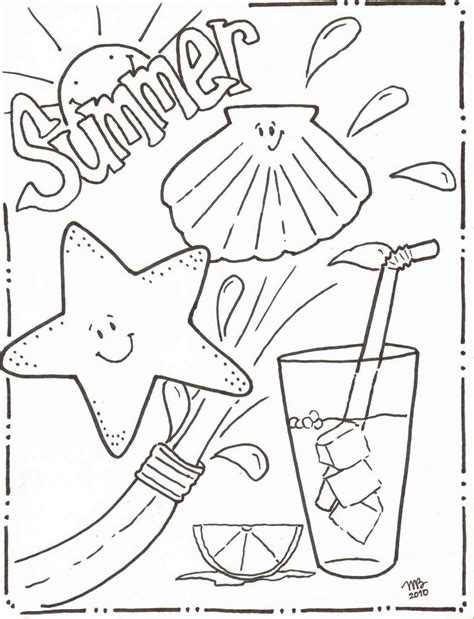 Michelle Kemper Brownlow Summer Coloring Pages Original Summer Colouring Pages To Print