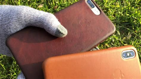apple saddle brown leather case   year youtube