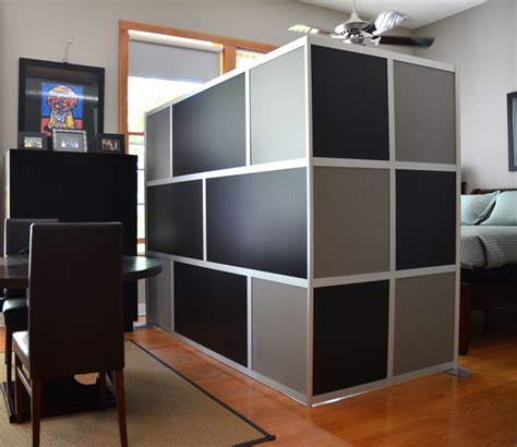 bedroom wall dividers custom modern room divider black gray modern