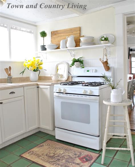 Wall Hung Kitchen Cabinets by Open Shelving In Our Farmhouse Kitchen Town Amp Country Living