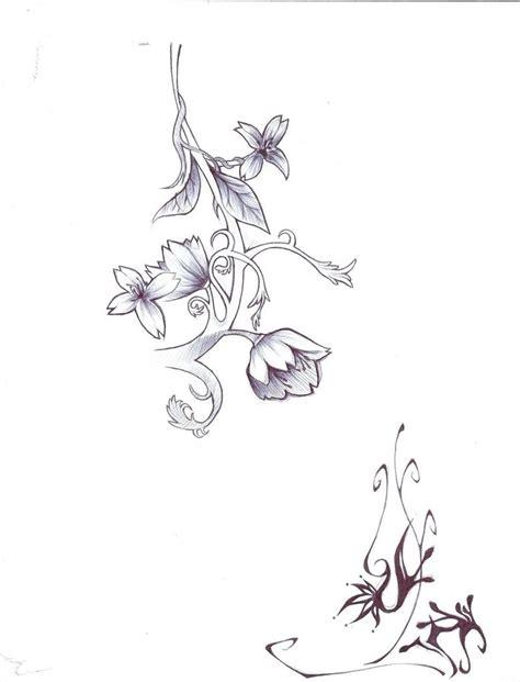 flower with vines tattoo designs flower vine drawing tulip flower designs drawings