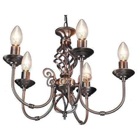 thlc classic knot twist 5 light ceiling pendant antique