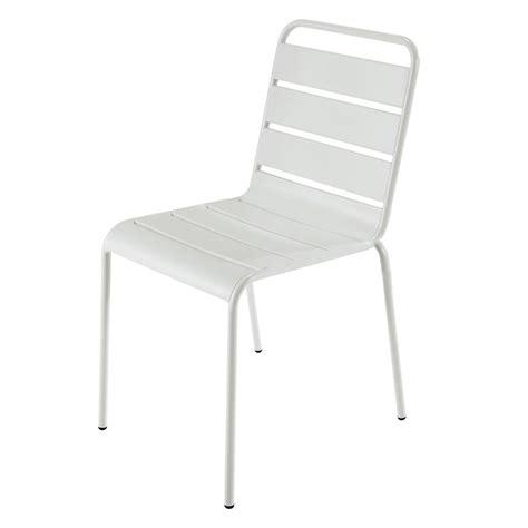 chaise de jardin en m 233 tal blanche batignolles maisons du