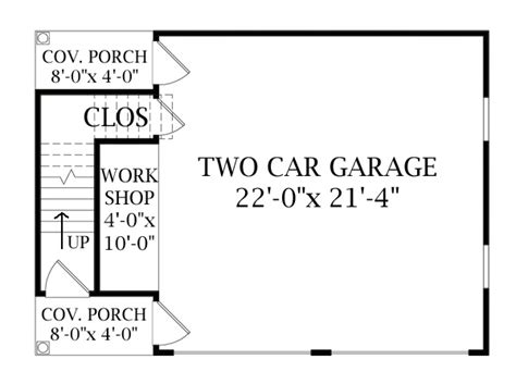 2 Story Floor Plans With Garage by Two Story Garage 6332 The House Designers