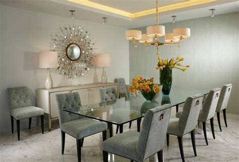 Modern Glass Dining Room Tables by J Design Interior Designer Miami Modern