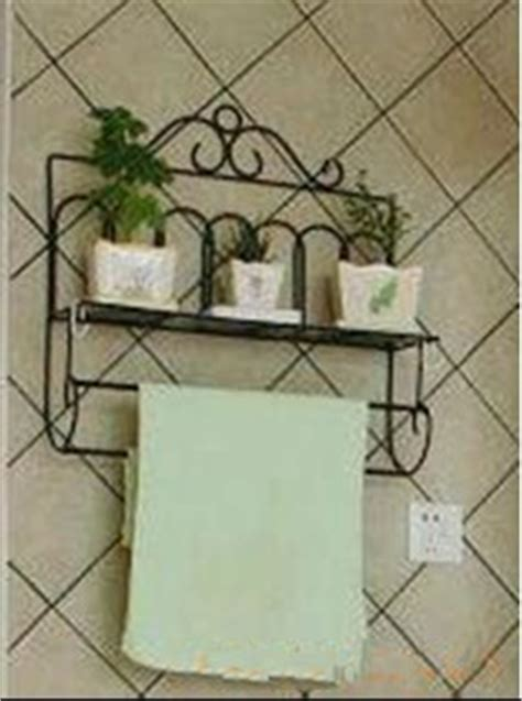 wrought iron style bathroom shelf towel rail ebay