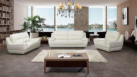 pc modern white italian top grain leather sofa loveseat