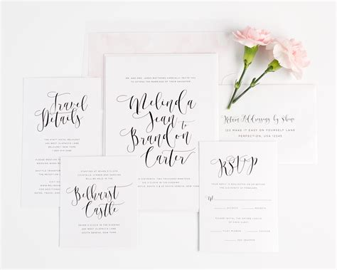 how to write calligraphy for wedding invitations light and airy wedding invitations in pink wedding