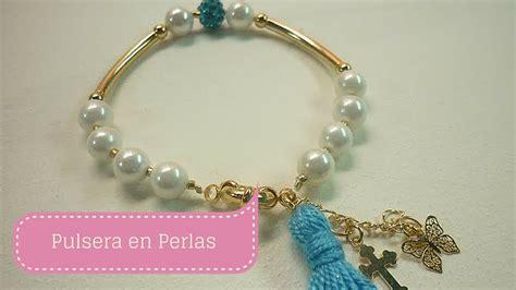 perlas de estambre manualidades pinterest manualidades pulsera con perlas f 225 cil bisuter 237 a diy sor