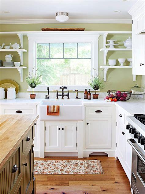 Country White Kitchen Cabinets | 35 country kitchen design ideas home design and interior