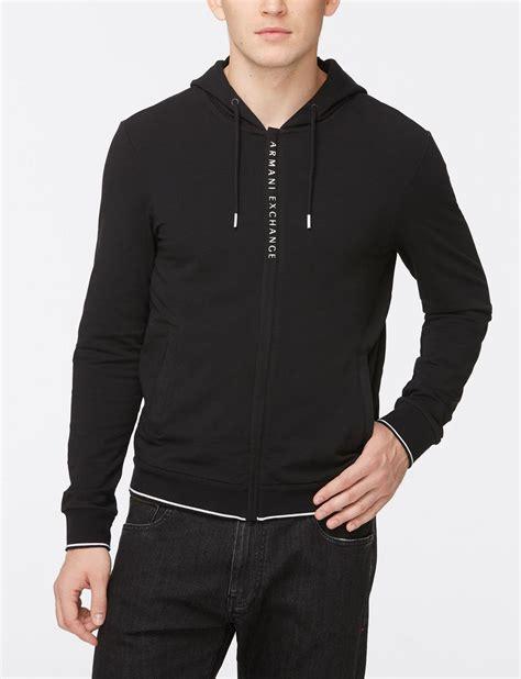 Sweater Pria Fleece Jaket Zipper Hoodie Distro Infcl Eklusif armani exchange logo placket zip up hoodie fleece top for a x store