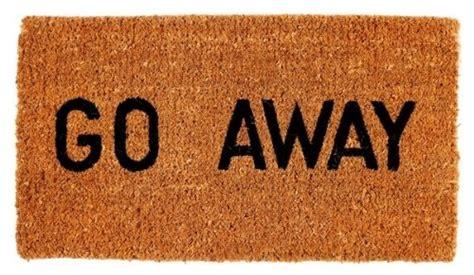 Go Away Doormats go away doormat