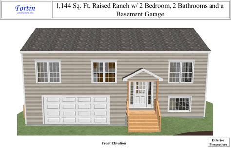 raised ranch home plans raised ranch house plans fortin construction custom