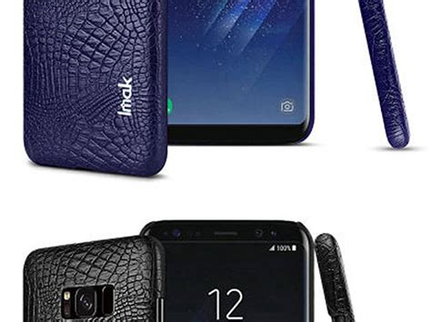 Imak Leather Back Samsung A8 Black imak crocodile leather back for samsung galaxy s8