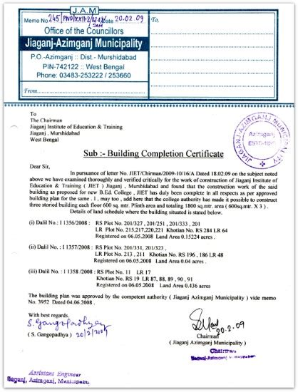 certification letter for occupancy occupancy certificate completion certificate importance