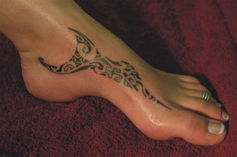 foot tribal tattoos 16 awesome tribal foot tattoos only tribal