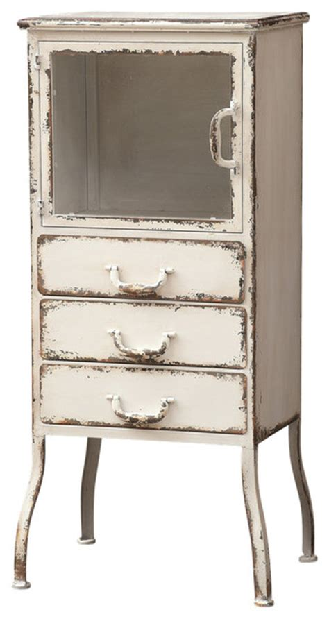 Farmhouse Pantry Cabinet by Distressed Metal Cabinet 3 Drawers Farmhouse Pantry