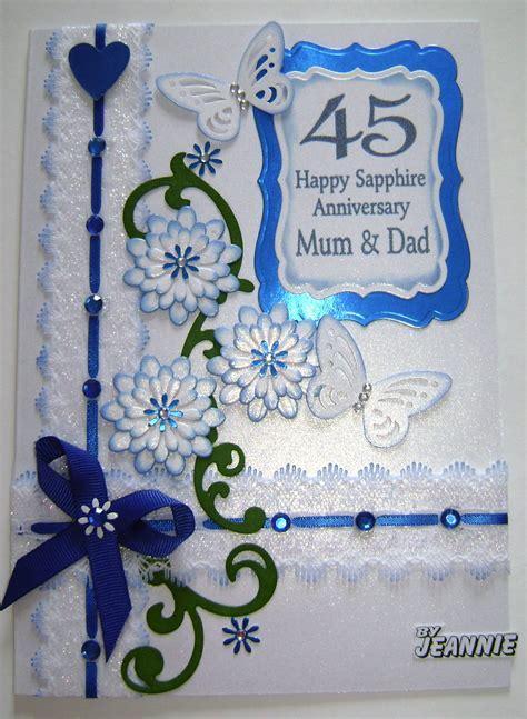 45 years Sapphire Anniversary   CARDS   Wedding