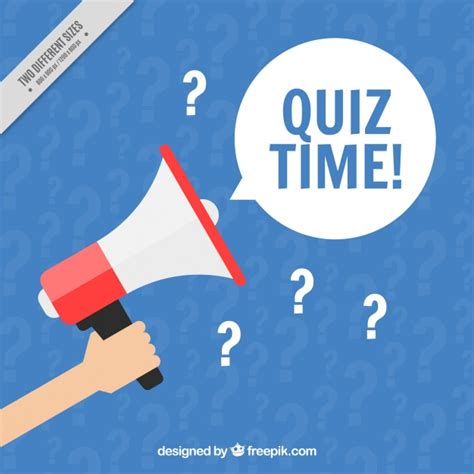 Image Quiz by Blue Quiz Background With Megaphone Vector Free