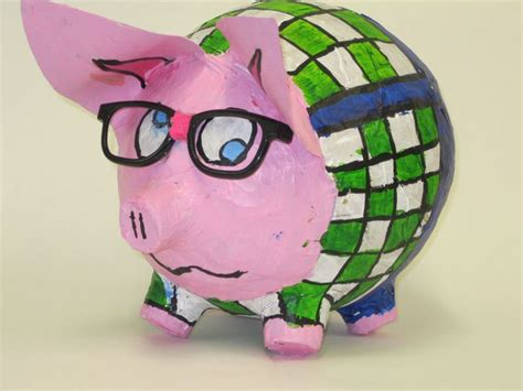 How To Make A Paper Mache Pig - lesson paper mache pig club