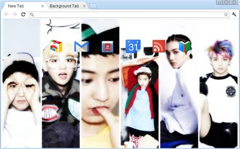 theme google chrome exo wolf google chrome theme exo k xoxo by randompandaaa jjang