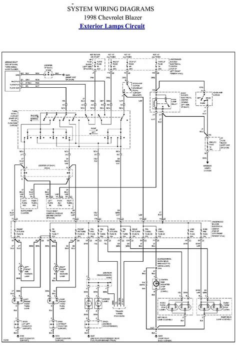 exterior l circuit diagram of 1998 chevrolet blazer