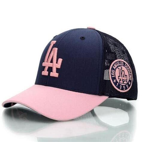 Topi Baseball Supreme Navy 5 pink los angeles promotion shop for promotional pink los angeles on aliexpress